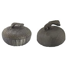 Pair of Don Drumm Brutalist Cast Aluminum Covered Bowls