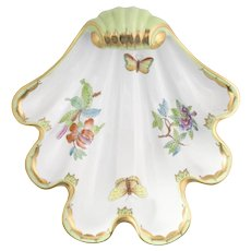 Herend Queen Victoria Porcelain Shell Dish