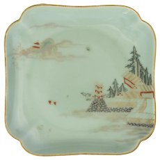 Japanese 19th C. Celadon Decorated Plate