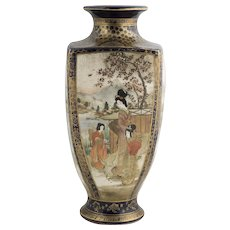Japanese Meiji Period 19th C. Satsuma Vase