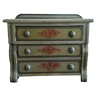 Miniature American Empire Painted Chest