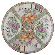 Large Chinese Rose Medallion Plate 19th C.