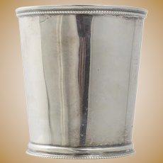 Horton & Rikeman Savannah Georgia Coin Silver Cup