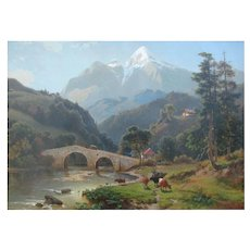Alpine Landscape Oil Jacobus Nicolaus Tjarda Van Starckenborgh
