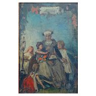 Carl Hoff Oil On Artist Board German 19th Century