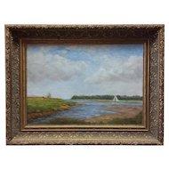 Kenneth Milton Oil on Board, Coastal Landscape