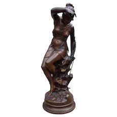 """French Bronze """"Nymph De Diane"""" Lucie Signoret – Lidieu"""
