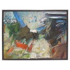 Oil on Board, Julienne Jones Abstract Painting