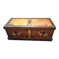 American Painted Folk Art Chest / Large Box