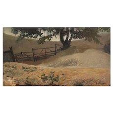 Minerva Chapman Landscape Oil on Canvas on Board