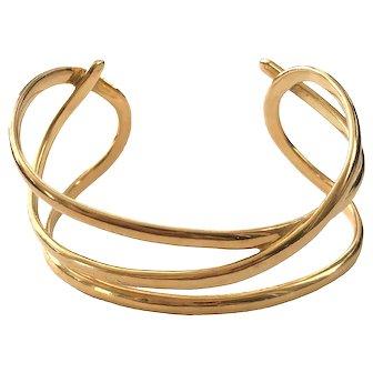 1980 Vintage Tiffany 18K Gold Cuff Bracelet