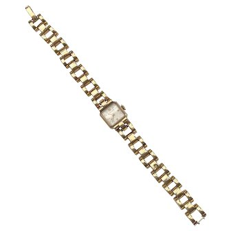 Tiffany & Co. 14K Gold Retro Woman's Watch