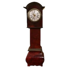 Antique German 18th C. Style Miniature Tall Case Clock