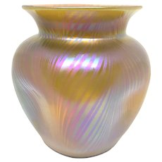 Loetz Glass Vase in Citron Phanomen Gre 7501