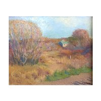 American Impressionist Landscape Painting Mid 20th C.