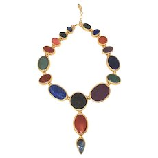 Gurhan 24K Yellow Gold Multi_Gemstone Necklace