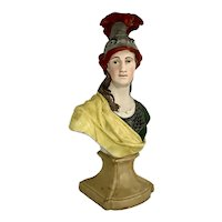 English Staffordshire Pearlware Bust Of Minerva