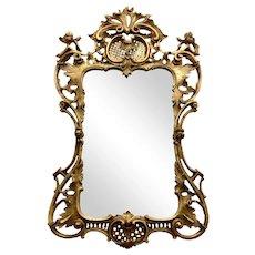 19th Century English Georgian Style Carved Gilt Wood Mirror