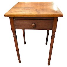 Early Nineteenth Century New Jersey Carved Maple Table