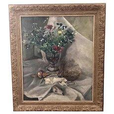 "Tosca Olinsky "" Floral Still Life "" Oil On Canvas"