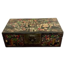 Antique Chinese Scenic Painted Box