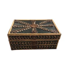Nineteenth Century European Painted Carved Folk Art Box