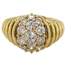 Jose Hess 18K Gold and Diamond Ring