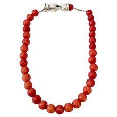 David Yurman Men's Coral Spiritual Bead Bracelet