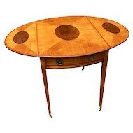 18th Century English George III Satinwood Pembroke Table