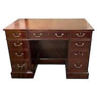English George III Style Mahogany Kneehole Desk