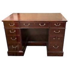 English George III Style Mahogany Kneehole Desk