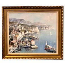 """Lucien Delarue Oil On Canvas """"Port de St. Jean"""""""