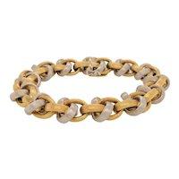 Nicolis Cola 18K White & Yellow Gold Link Bracelet