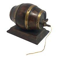 19th Century English Barrel Keg Form String Holder