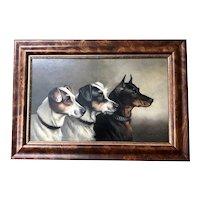 Alfred Wheeler, British, Oil on Board Terrier Dog Portrait