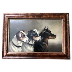 Alfred Wheeler, British, Oil on Board Terrier Dog Portrait