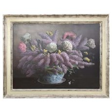 Lilacs & Peonies, Michael J. Moore, American 20th/21st Century