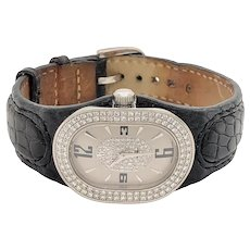 Bertolucci Serena Stainless & Diamond Watch Leather Band
