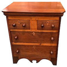 19th C. American Walnut Child's Chest of Drawers