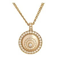 Chopard Happy Spirit Floating Diamond Pendant Necklace