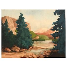 American Landscape Oil on Canvas Paul Smith