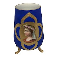 French Neoclassical 19th C. Porcelain Fitted Vase