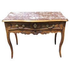 18th Century French Louis XV Carved Walnut Table