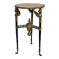 Continental Neoclassical Gilt Bronze And Siena Marble Table