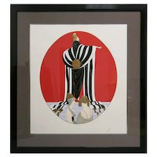 "Erte ""Monaco"" 1987 Signed/ Numbered Serigraph"
