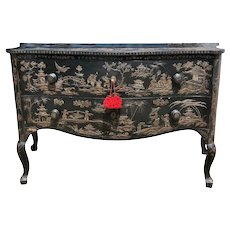 18th Century Italian Japanned Two Drawer Chest