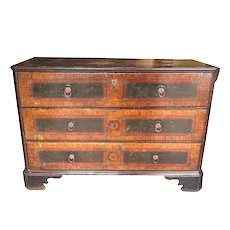 18th C. Continental Faux Painted Chest of Drawers