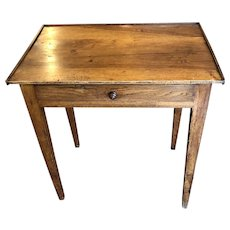Early 19th C. Walnut Federal Period One Drawer Table