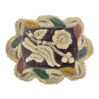 Victorian Beaded Small Accent Pillow