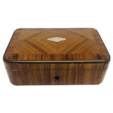 French 19th C. Kingwood Jewel Box With Key